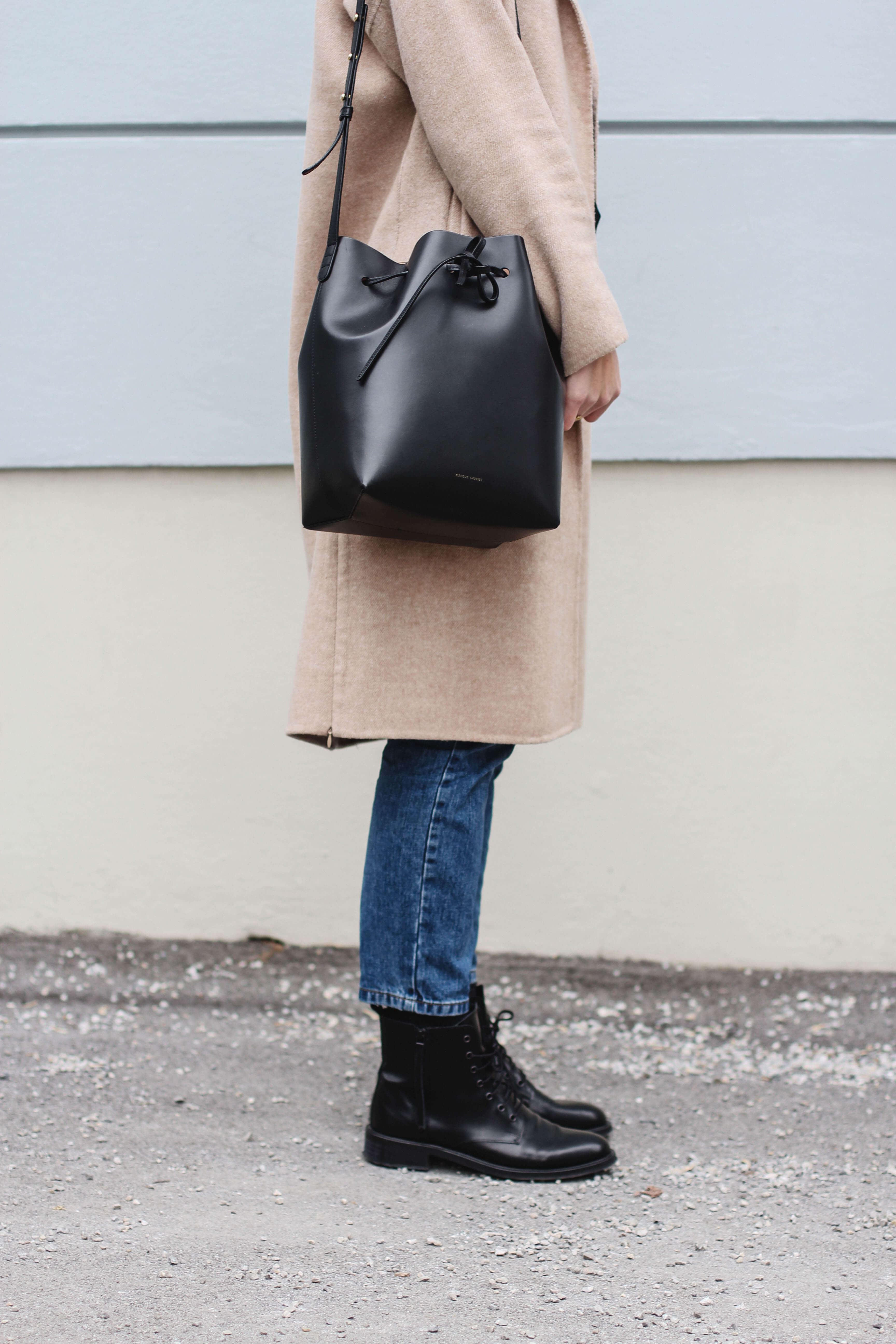 Camel Coat Mansur Gavriel Bucket Bag Fashion Blogger Tifmys